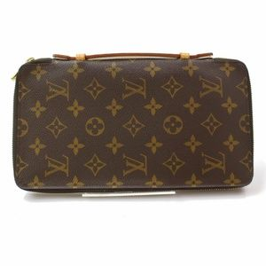 100%Auth Louis Vuitton Long Zippy Travel Organizer